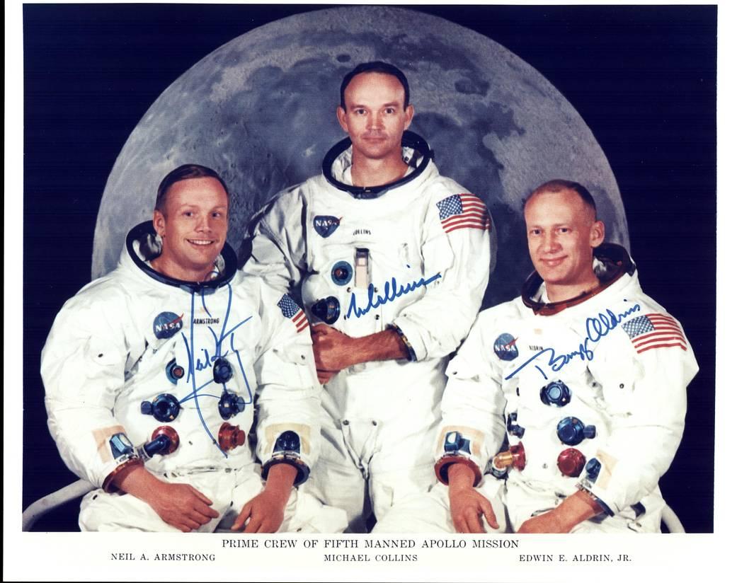 Apollo 11 Crew Training PHOTO First Moon Landing Neil Armstrong Buzz Aldrin