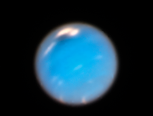 Feb. 7, 2019: Neptune. The two major planets beyond Saturn have only been visited once by a spacecraft, albeit briefly. NASA's Voyager 2 spacecraft swung by Uranus in 1986, and Neptune in 1989. Our robotic deep-space tourist snapped the only close-up, detailed images of these monstrous worlds. For Neptune, the images revealed a planet with a dynamic atmosphere with two mysterious dark vortices. Uranus, however, appeared featureless. But these views were only brief snapshots. They couldn't capture how the planets' atmospheres change over time, any more than a single snapshot of Earth could tell meteorologists about weather behavior. And, they go through protracted seasonal changes in their multi-decades-long orbits. Ever since the Voyager encounter, the Hubble Space Telescope has provided an opportunity to monitor these worlds like a diligent weatherman.