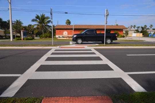 The State Road A1A crosswalk at Ellwood Avenue in Satellite Beach will receive a flashing beacon.