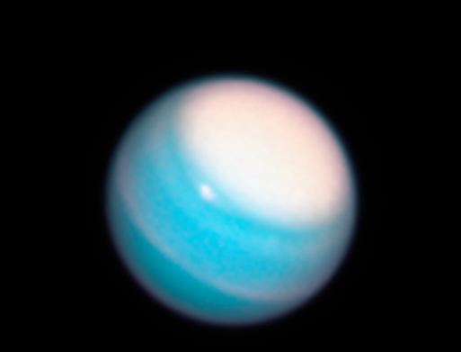Feb. 7, 2019: Uranus. The two major planets beyond Saturn have only been visited once by a spacecraft, albeit briefly. NASA's Voyager 2 spacecraft swung by Uranus in 1986, and Neptune in 1989. Our robotic deep-space tourist snapped the only close-up, detailed images of these monstrous worlds. For Neptune, the images revealed a planet with a dynamic atmosphere with two mysterious dark vortices. Uranus, however, appeared featureless. But these views were only brief snapshots. They couldn't capture how the planets' atmospheres change over time, any more than a single snapshot of Earth could tell meteorologists about weather behavior. And, they go through protracted seasonal changes in their multi-decades-long orbits. Ever since the Voyager encounter, the Hubble Space Telescope has provided an opportunity to monitor these worlds like a diligent weatherman.