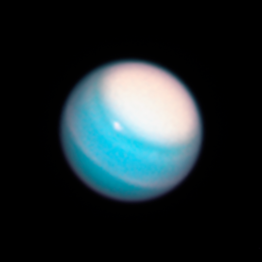 Feb. 7, 2019: Uranus. The two major planets beyond Saturn have only been visited once by a spacecraft, albeit briefly. NASA's Voyager 2 spacecraft swung by Uranus in 1986, and Neptune in 1989.