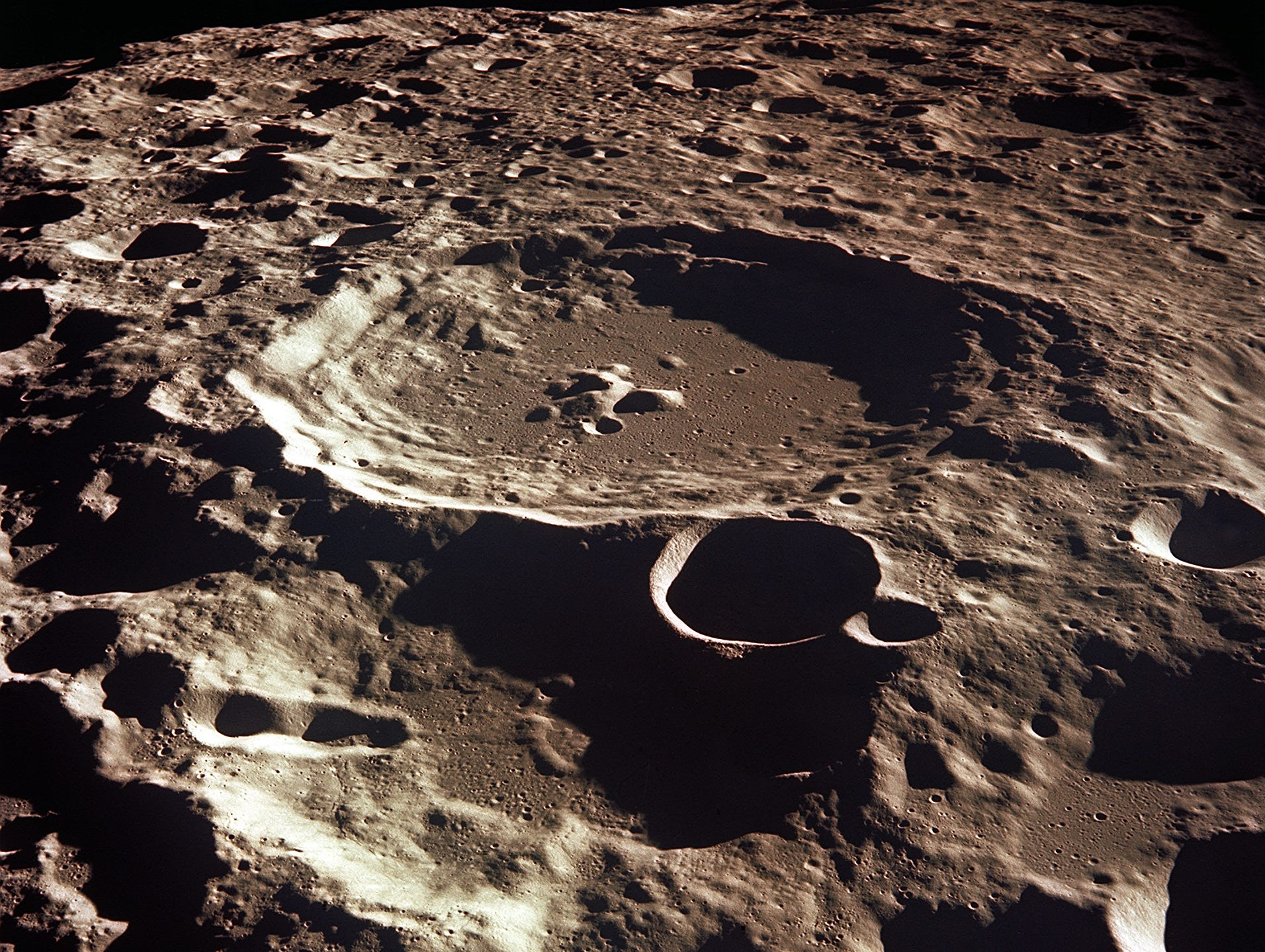 The far side of the Moon is rough and filled with craters. By comparison, the near side of the Moon, the side we always see, is relatively smooth. Since the Moon is rotation locked to always point the same side toward Earth, humanity has only glimpsed the lunar farside recently - last century.