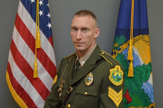 Sgt. Eugene Duplissis of the Vermont State Police appears in his official department photo taken in fall 2017.