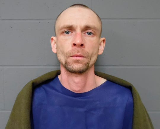 This Saturday, March 9, 2019, booking photo provided by the Vermont State Police shows John-Victor Wetherby, of Bellows Falls, Vt. Vermont State Police said Wetherby, shot by a state trooper during a manhunt, has been jailed without bail. Authorities supect Wetherby of aggravated assault. (Vermont State Police via AP)