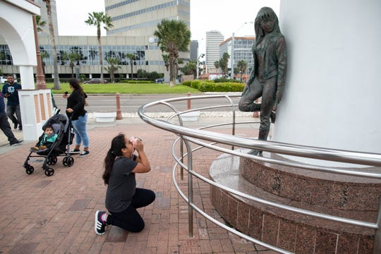 The Selena Memorial Statue located at 600 N Shoreline Boulevard.