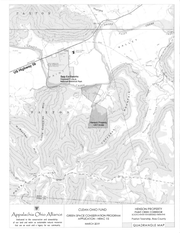 A physical map shows the land sought by the Appalachia Ohio Alliance known as the Henson Property and its relationship to nearby geographical features