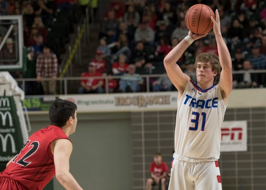 Chillicothe's Zane Trace defeated Lancaster's Fairfield Union 51-45 Sunday night in a Division II district final game at Ohio University's Convocation Center in Athens, Ohio, on March 10, 2019.