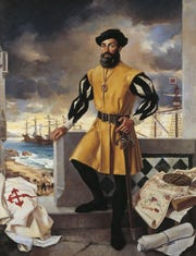 Portrait of Ferdinand Magellan by Antonio Menendez.