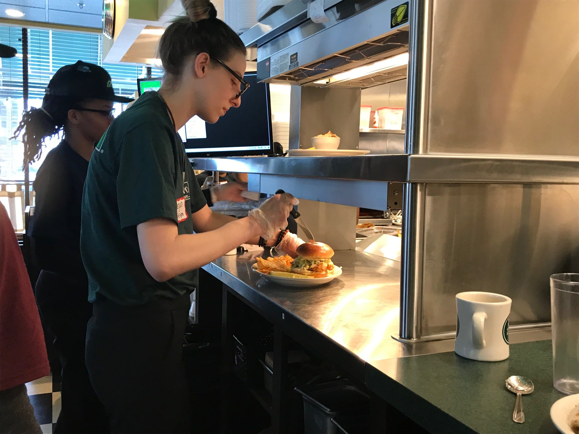 Metro Diner in East Brunswick team members train for Tuesday's grand opening.