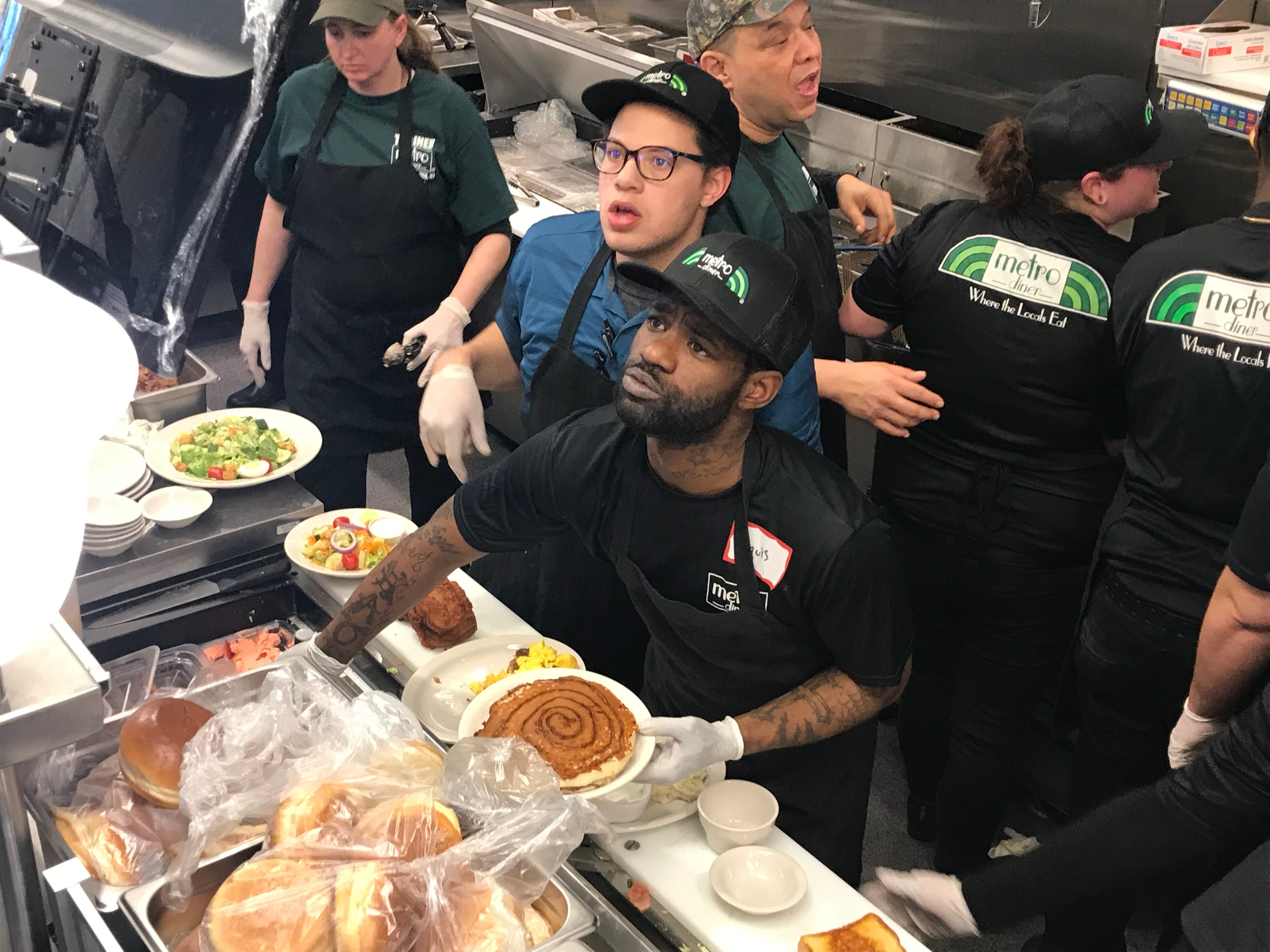 Metro Diner in East Brunswick team members are ready for Tuesday's grand opening.