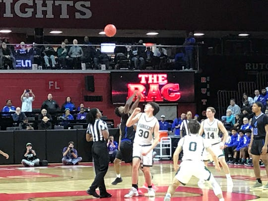 The New Providence boys basketball team won its first Group I title since 1999 with a 66-56 victory over Burlington City on Sunday night.