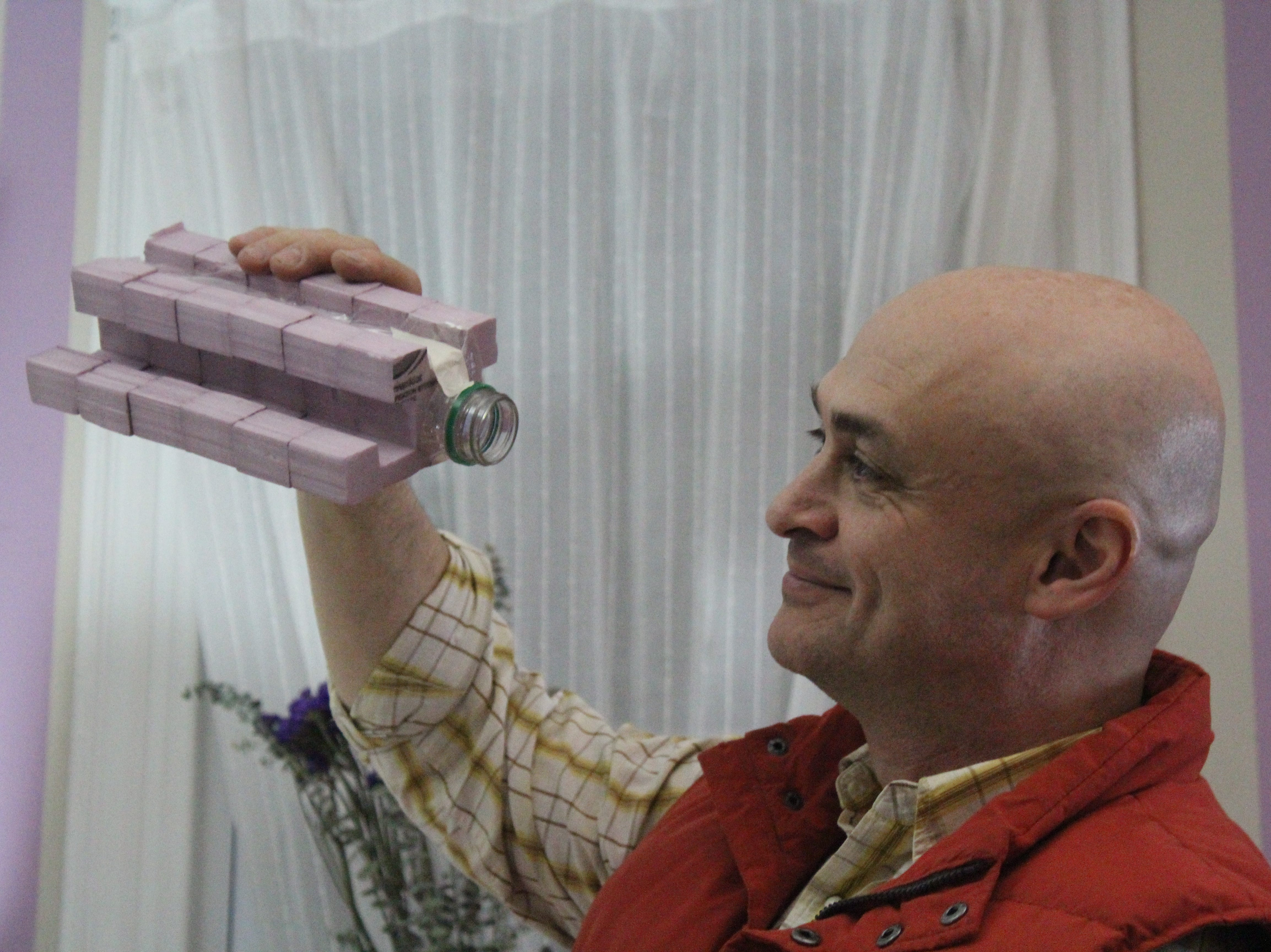 """Hoping to dohis part to save the world ecologically, East Brunswick's Vitaly Brukhman designed a bottle with a sustainabledesign.Called theBruvad Bottle, the projectis currently in the running in ExpoWanted, said to be the """"biggest product design competition"""" launched through Instagram. It will give 10 designers from around the world the opportunity to exhibit at Milan Design Week 2019, which is April 9-14."""