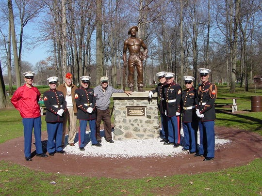 """In honor of John """"Blackie"""" Meszaros and the Civilian Conservation Corps (CCC) program, Meszaros's sons are rededicating the CCC statue in Roosevelt Park at 1 p.m. on Sunday, March 31."""