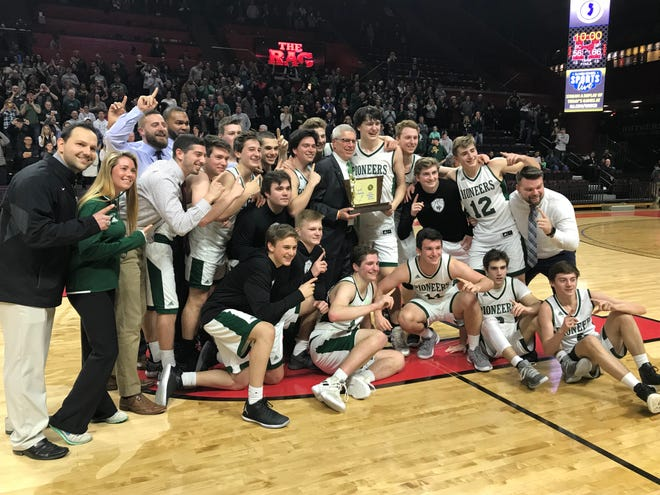 The New Providence boys basketball team won its first Group I title since 1999 with a 66-56 victory over Burlington City on Sunday, March 10, 2019 at the Rutgers Athletic Center.