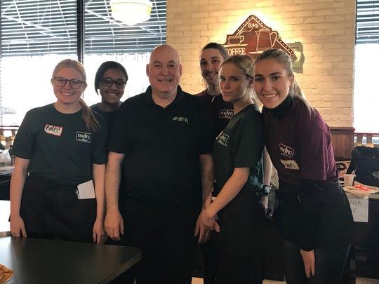 East Brunswick Metro Diner team members with Managing Partner Michael Killeen.