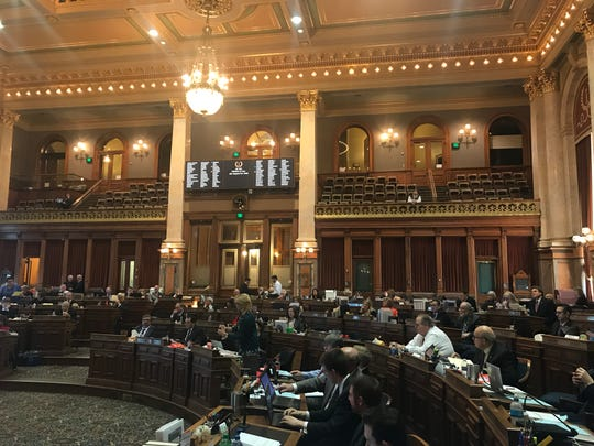 Lawmakers in the Iowa House debate a life-support bill on Monday, March 11, 2019.