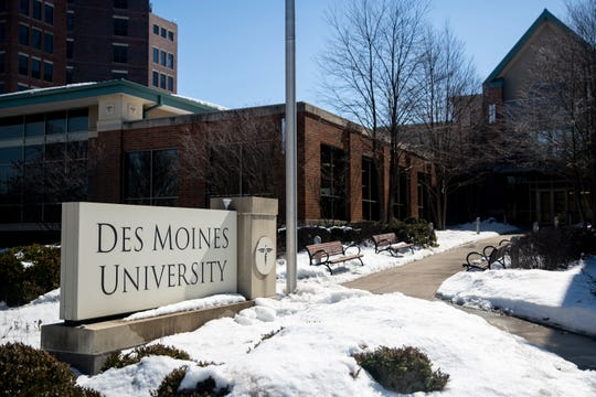 The Des Moines University campus on Monday, March 11, 2019, on the west side of Des Moines. DMU announced last month that the University plans to move the campus to West Des Moines.