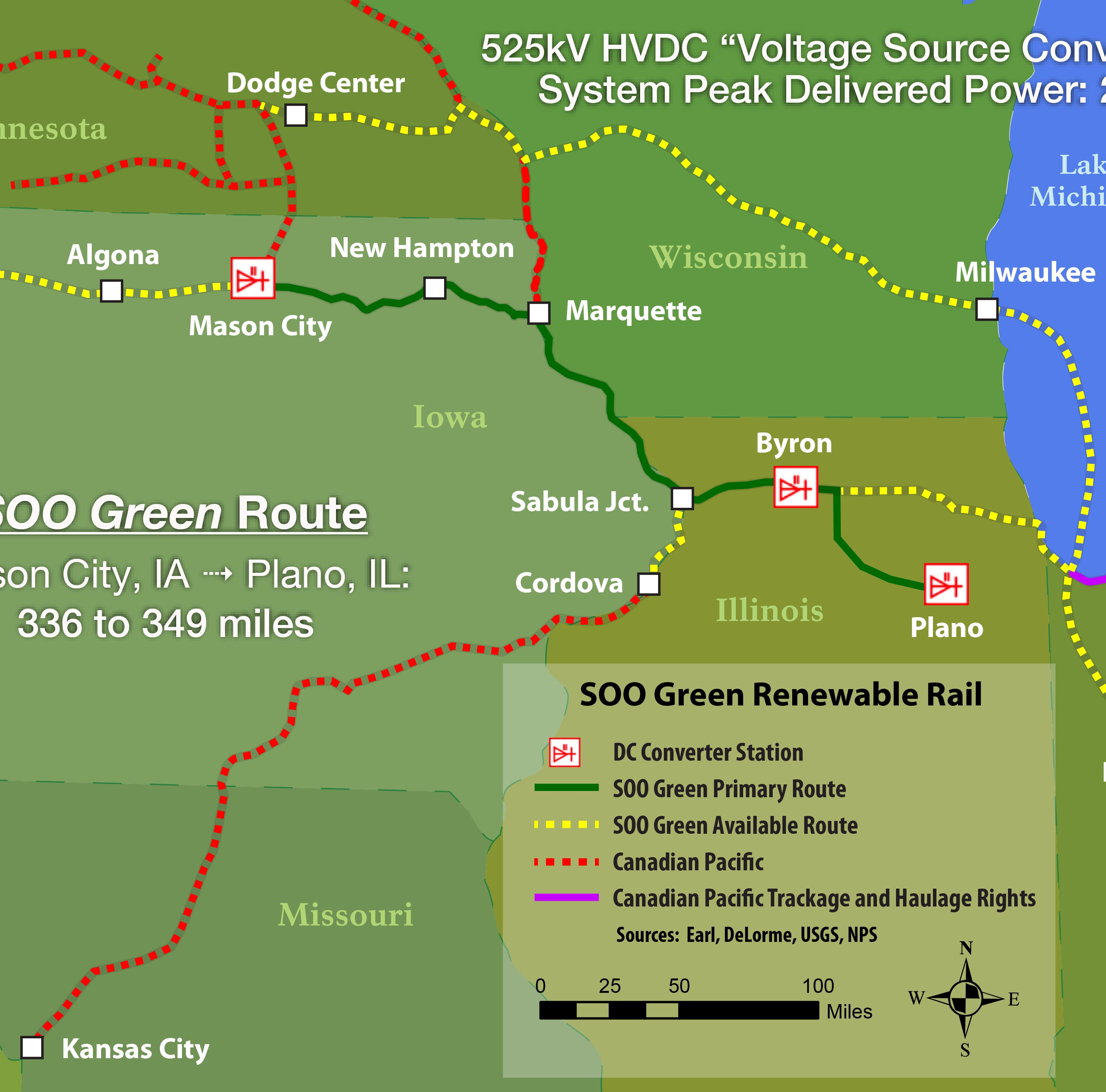 Developer proposes a 350-mile underground transmission line to carry wind energy from rural Iowa to Chicago