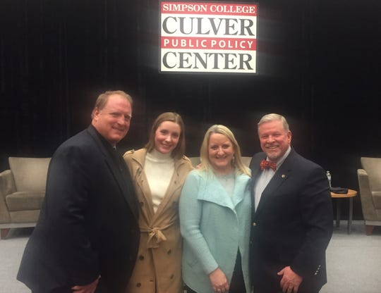 State Rep. Scott Ourth celebrated the life of former U.S. Sen. John C. Culver with his son, former Gov. Chet Culver, his daughter, and his sister at the Culver Center for Public Policy at Simpson College.