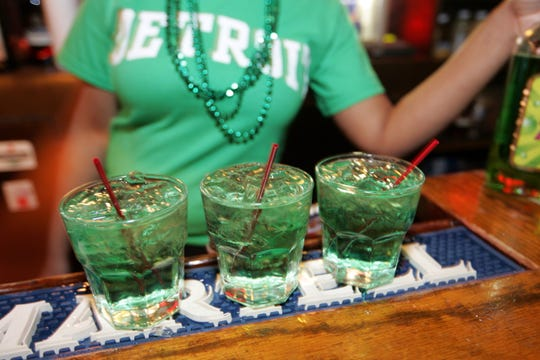 Green beverages and cocktails will be abundant during Saturday evening's St. Patrick's Day party in Beacon Park.