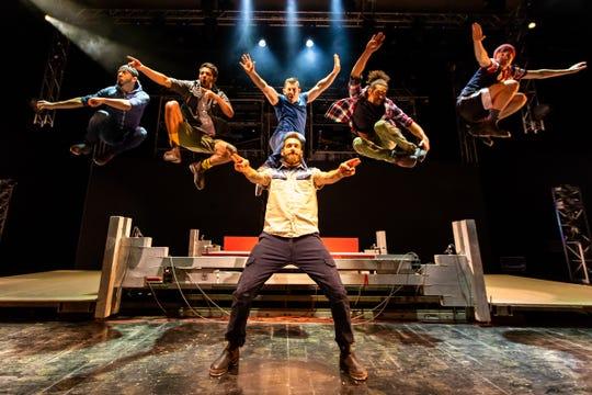 """Tap Dogs performances are described as """"part theatre, part rock concert, part construction site."""""""