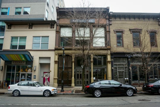 New buildings bought by I.J.W. Whisky Company at 104 West Main Street in downtown Louisville, Ky. on Friday, March 8, 2019.
