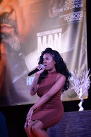 Singer BEVLOVE performs at event
