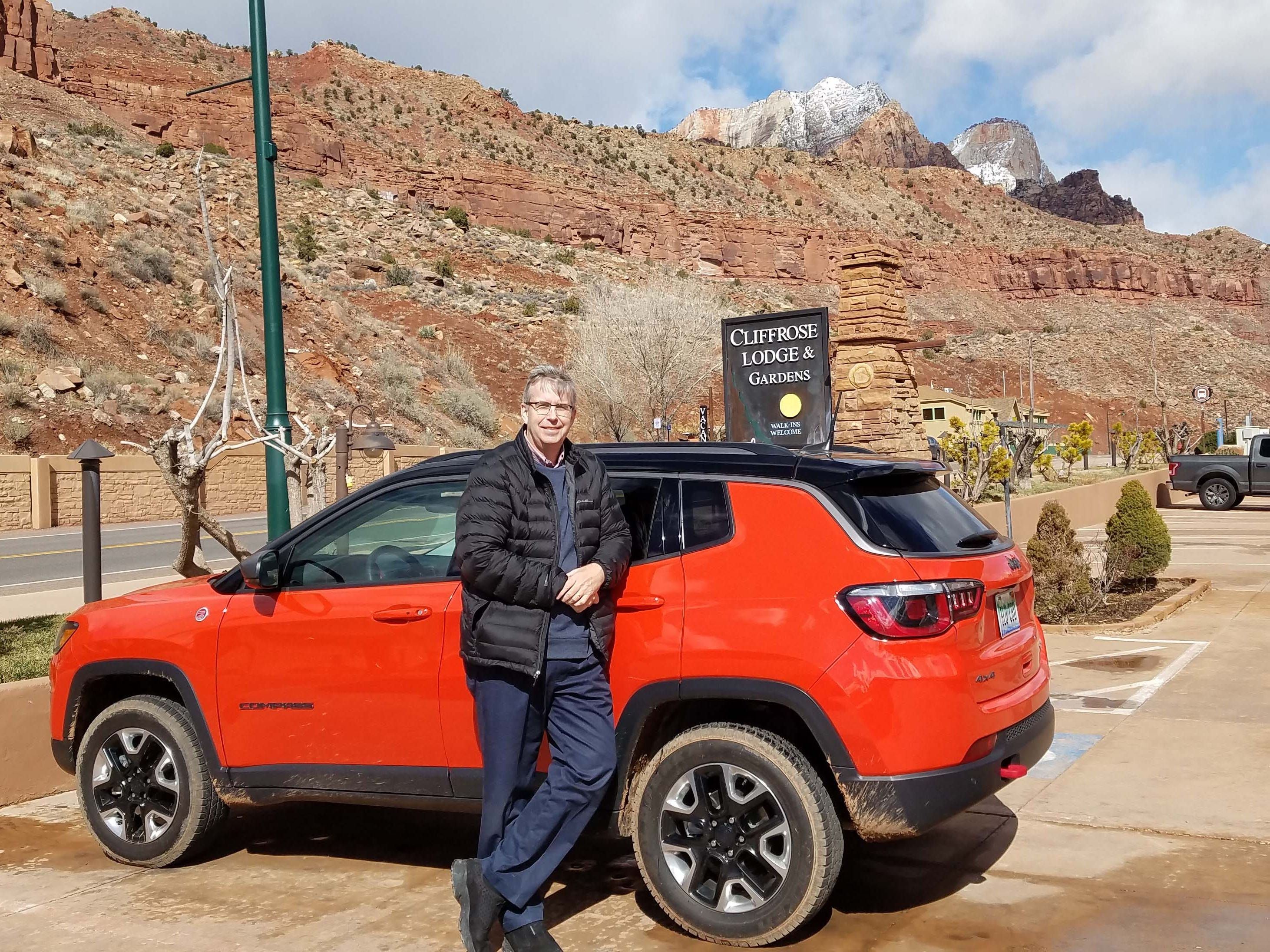 Detroit News auto critic Henry Payne took the Jeep Compass Trailhawk through southern Utah in snow and sunshine this winter.