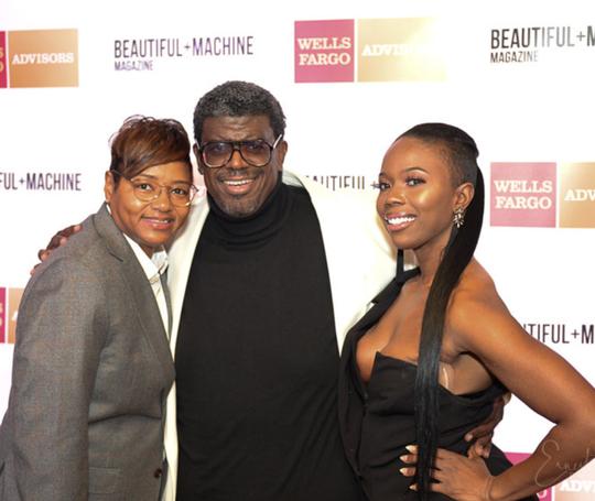 l-r, Jacqueline Meadows, Beautiful Machine Mag founder, Demetrius Carrington, Antisia King