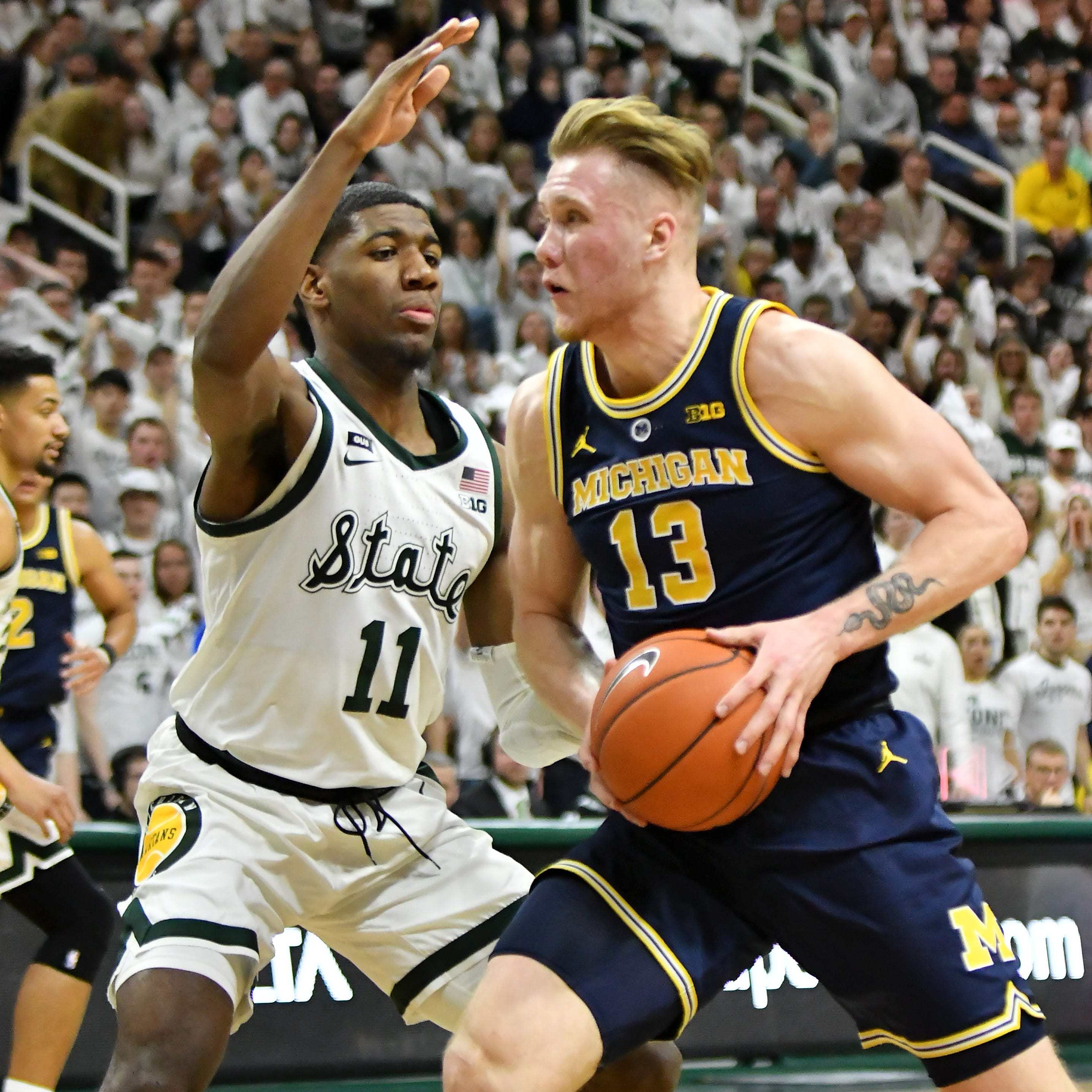 Michigan State a No. 2 seed, Michigan a No. 3 seed in latest bracket projections