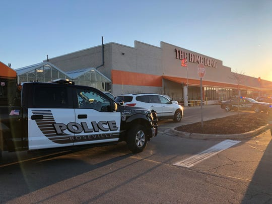 Police descended on the Home Depot on 13 Mile after the incident.