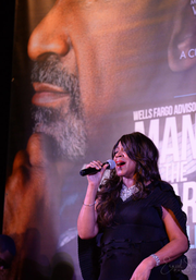 Recording artist Alicia Meyers performs at Beautiful Machine Mag's anniversary party.