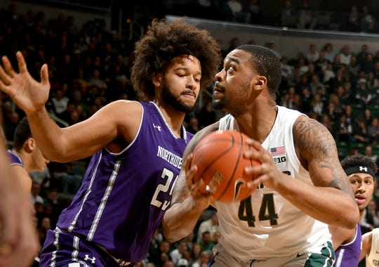 Michigan State center Nick Ward will return for the Big Ten tournament after missing five games with a broken hand.