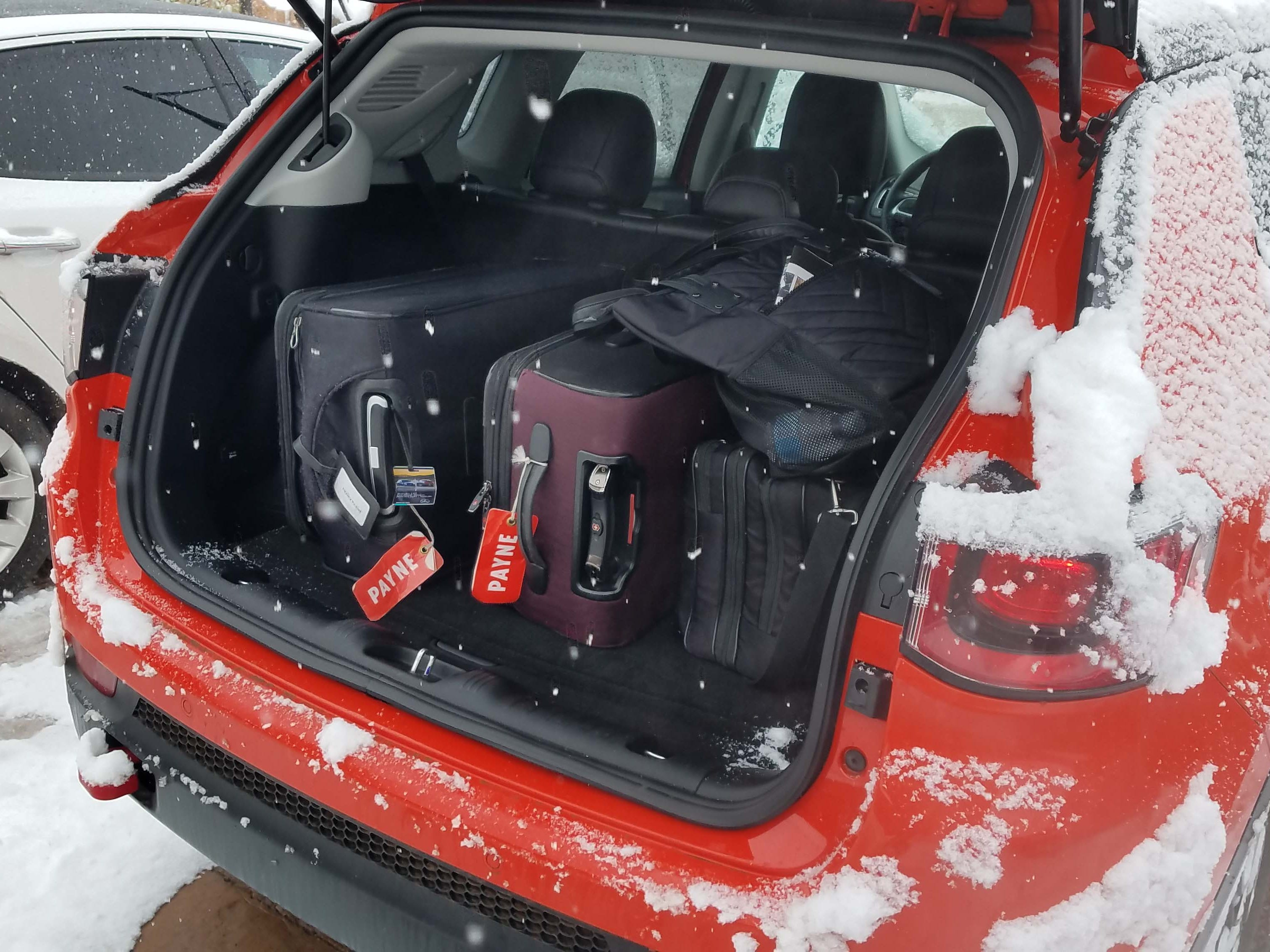 The Jeep Compass Trailhawk is a compact ute with plenty of cargo room in the hatch for a weekend adventure.