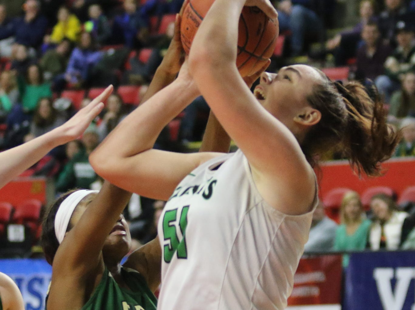 Binghamton Seton Catholic Central vs. Roosevelt in a Class A girls basketball state quarterfinal March 10, 2019 at Floyd L. Maines Veterans Memorial Arena in Binghamton.