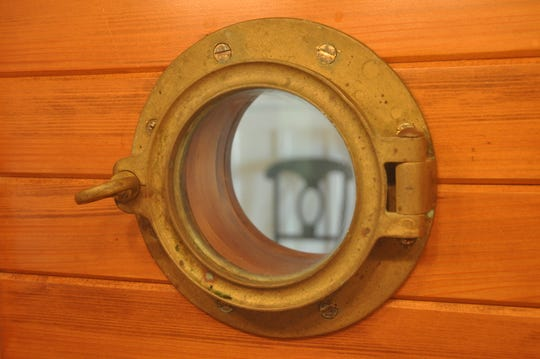 There are two portholes in the kitchen to keep with The Ark theme.