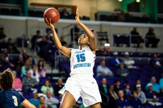 FSW's Tina Stephens puts up a shot during a game earlier this season.