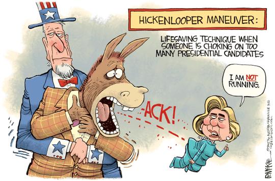 Hickenlooper Maneuver by Rick McKee, The Augusta Chronicle, GA