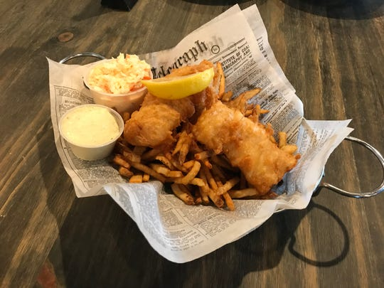Pictured is basket of food from Kitty O'Reilly's Irish Pub in Sturgeon Bay. They are one of several establishments on the Door County peninsula that is selling meals for pick-up and/or delivery.