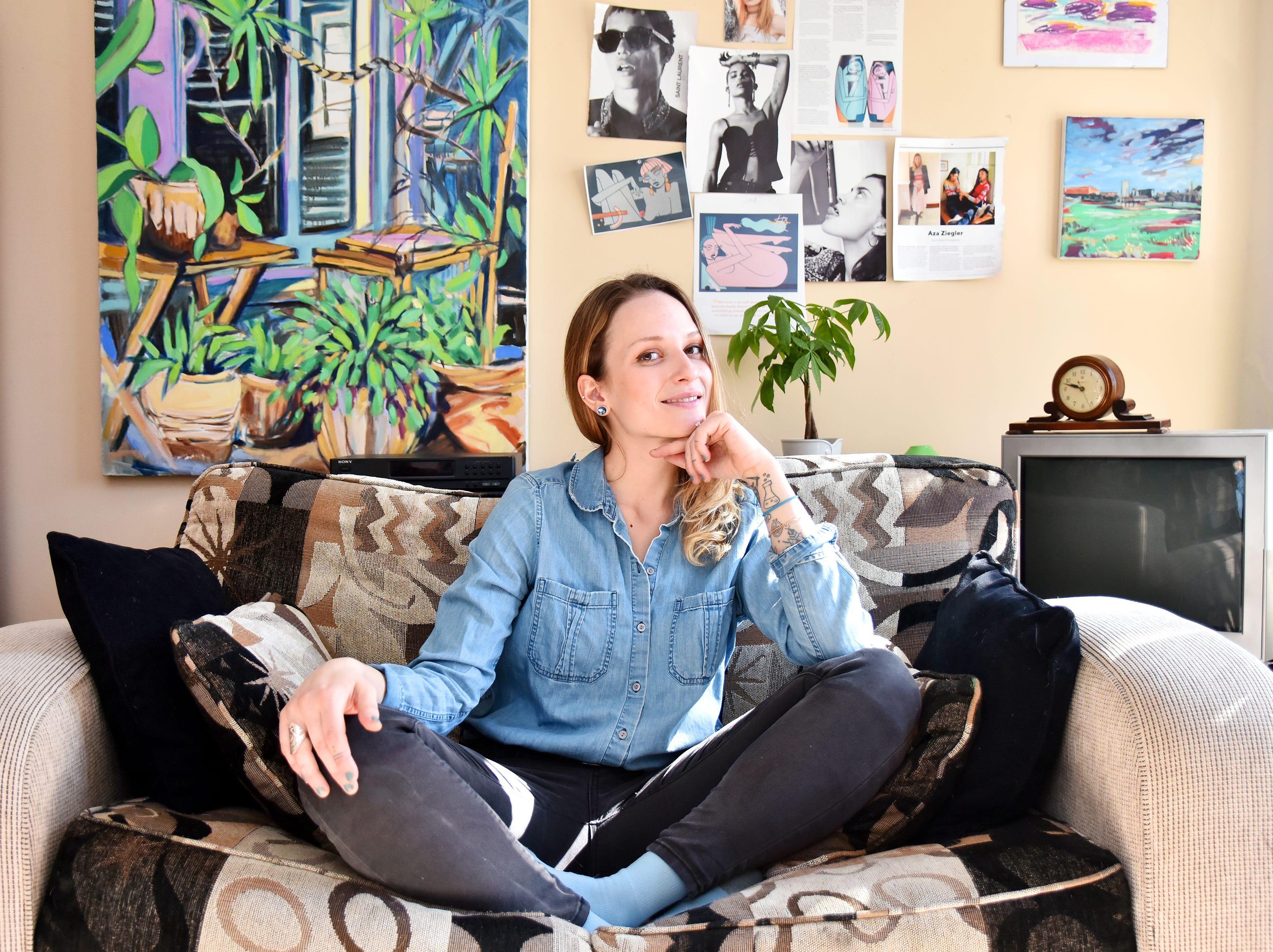 Artist Tatyana Grechina in her workspace.