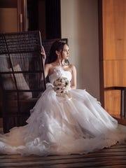 Model: Savana Baza Gown, bouquet: Paradise Weddings Location: Lotte Hotel Guam Make-up: Jai'easha Flores of Salina's BeautiWorks  Hair: Paulina Yim of Salina's BeautiWorks