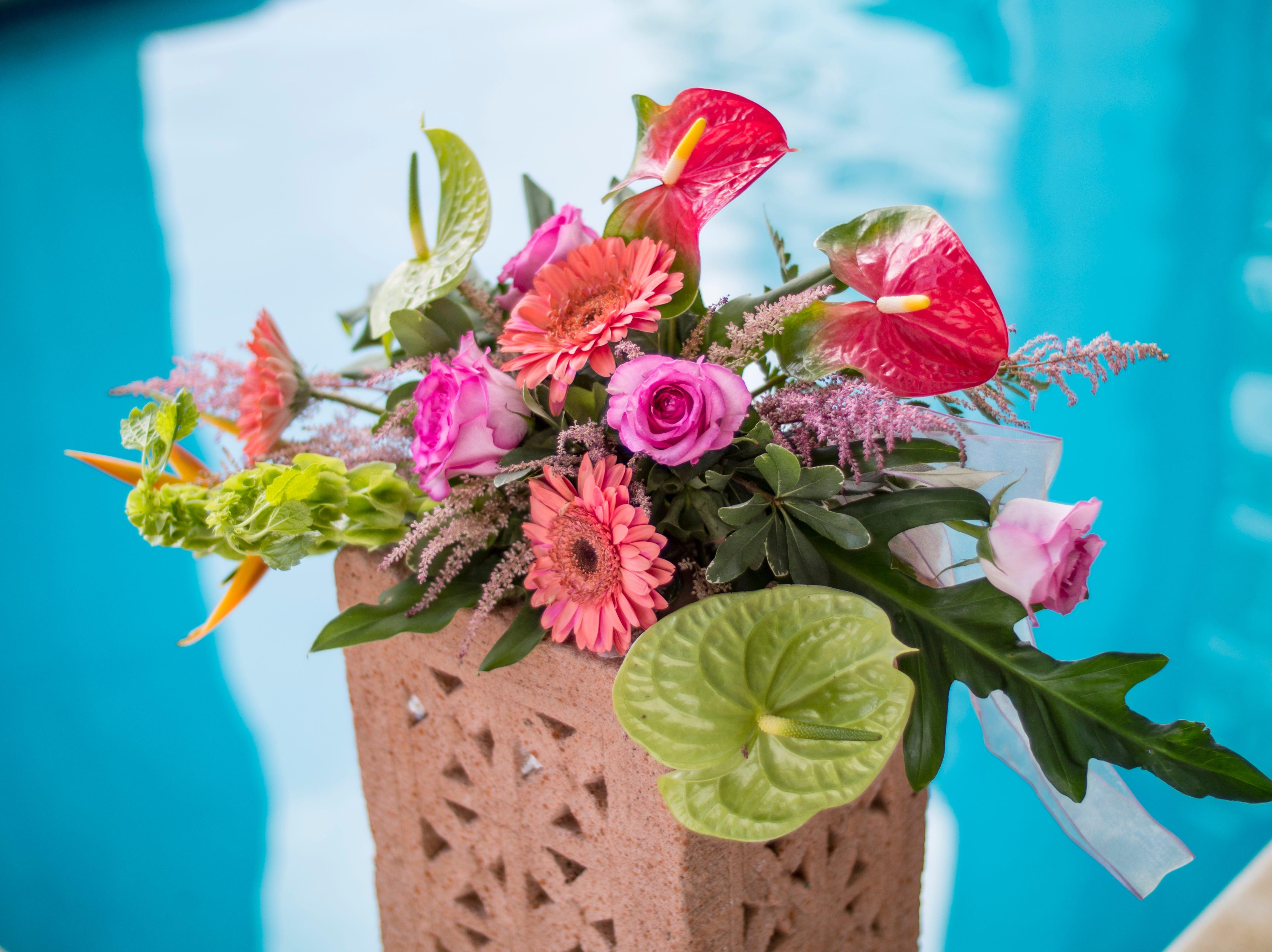 Wedding bouquet arrangement by Tove's Flower Shop.