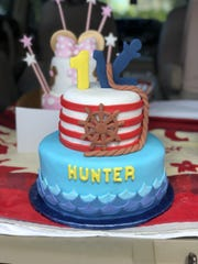 At least ten different shades of fondant are used to make this nautical cake by bakers Laling Pangelinan and Dora Cruz.