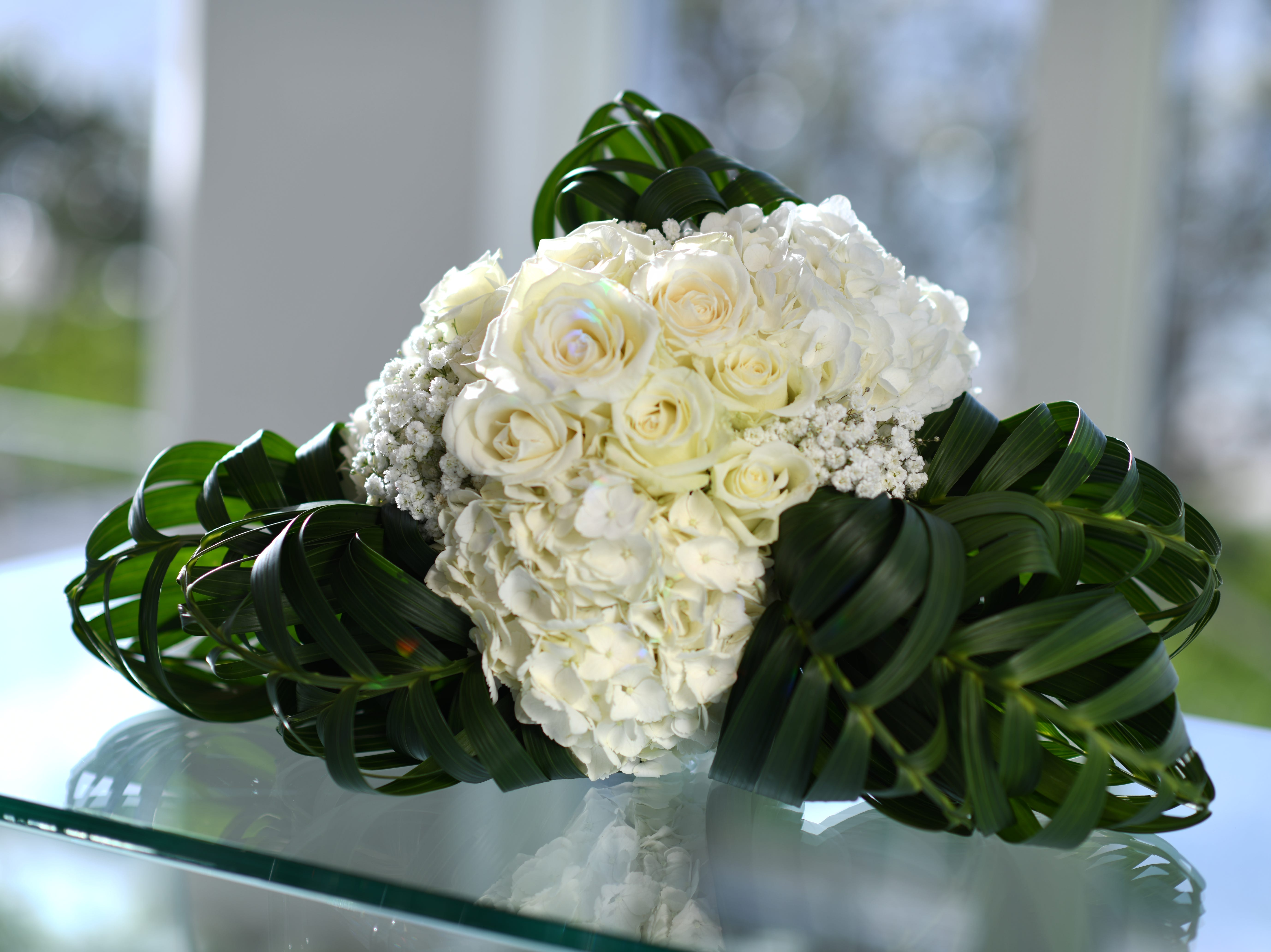 Wedding bouquets provided by Arluis Weddings.