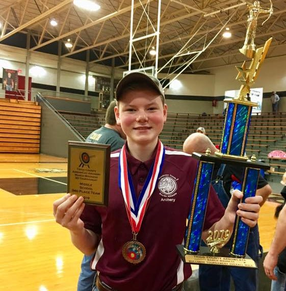 South's James Guier finishes third in NASP state archery tournament