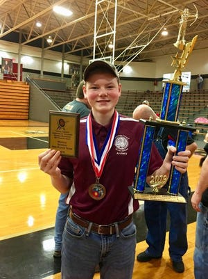 James Guier shot a 297 in archery this past weekend, which means he won first in the Middle School Male division and was also named Top Overall Male.
