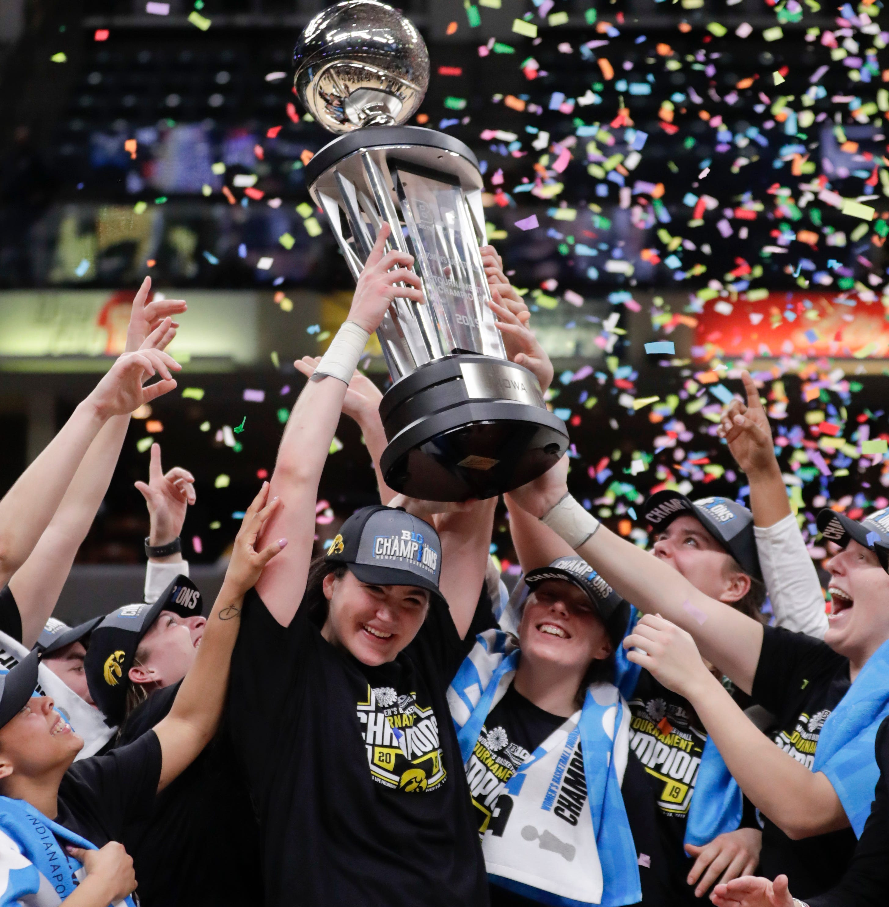'We got the championship': Megan Gustafson's 45 lead unbreakable Hawkeyes to Big Ten title