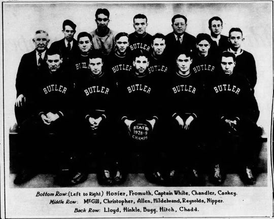The 1929 Butler basketball team.
