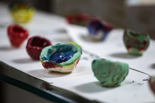 Student-made clay bowls will be sold from 4 to 5:30 p.m., Tuesday, March 12, 2019, during an art show at Francis Scott Key 103, an IPS innovation school on the far east side. Empty Bowls is an international initiative that encourages the use of art to fight hunger. The fundraiser will benefit Gleaner's Food Bank.