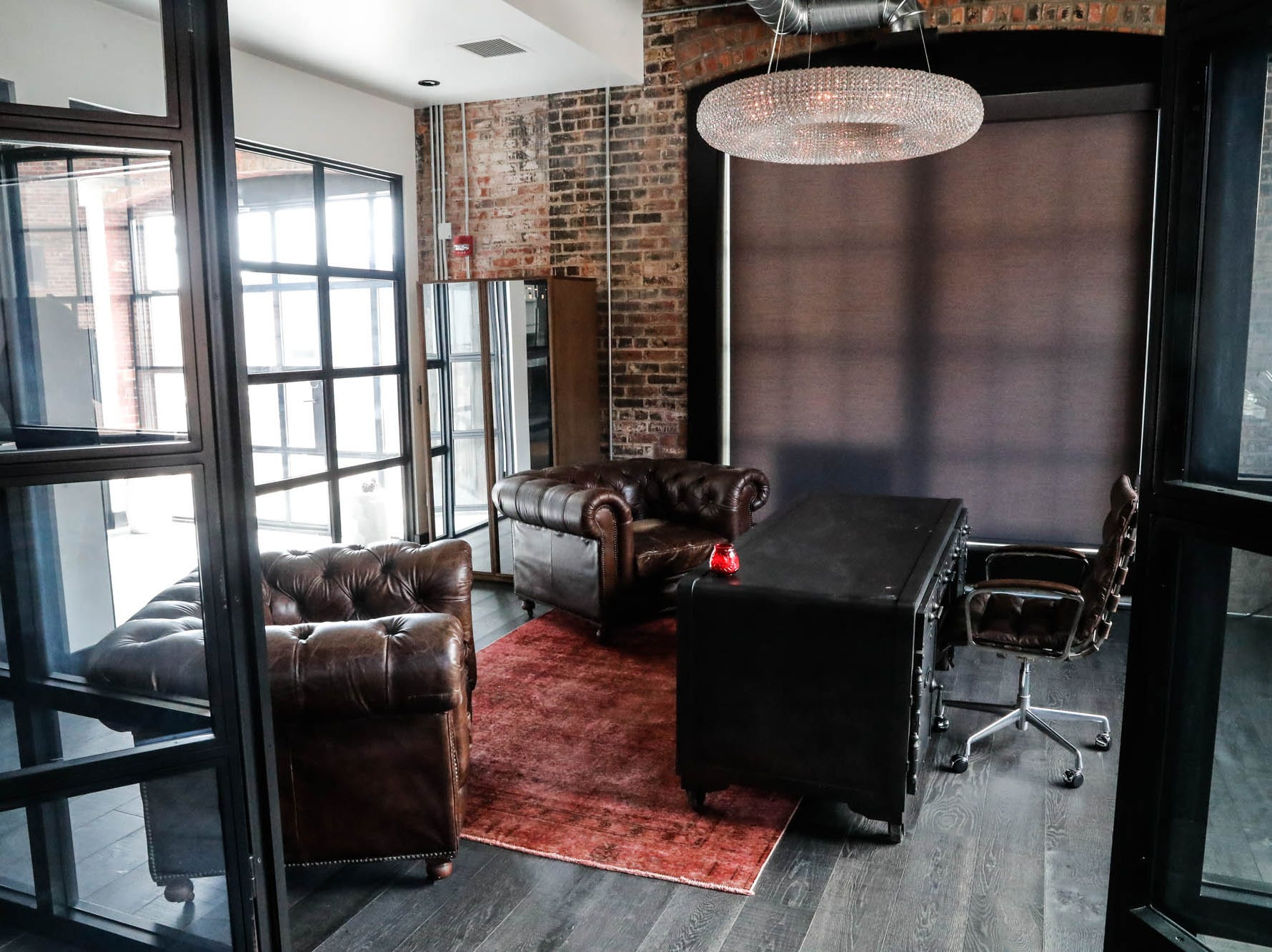 "The ""Lavish Lair,"" located inside the Blumlux Diamond Building, 740 E. North Street, Indianapolis Ind., is currently for sale and available for short term Airbnb rental, Monday, March 11, 2019. For more info: www.rentalpreneur.com, Hostsofindy.com, 317-797-2525."